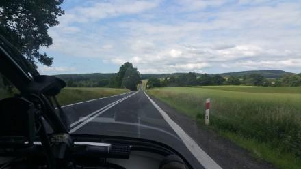 hills getting higher towards czech republic