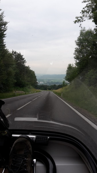 driving towards ried im innkreis
