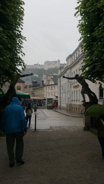 salzburg castle in the background
