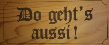 """""""exit"""" in bavarian dialect"""