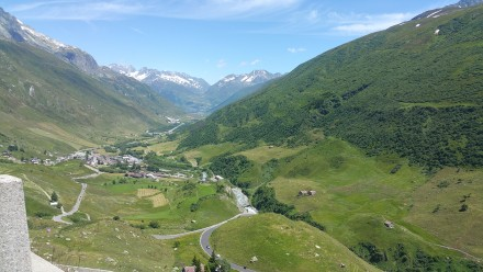 andermatt and oberalp in the background