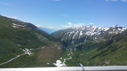 furka road on the left, grimsel to the right