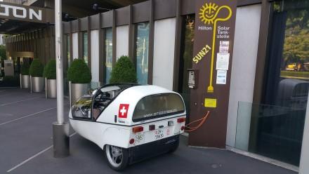 Hilton Basel - 100% solar charge