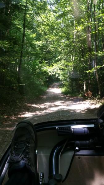 lovely single lane roads in france