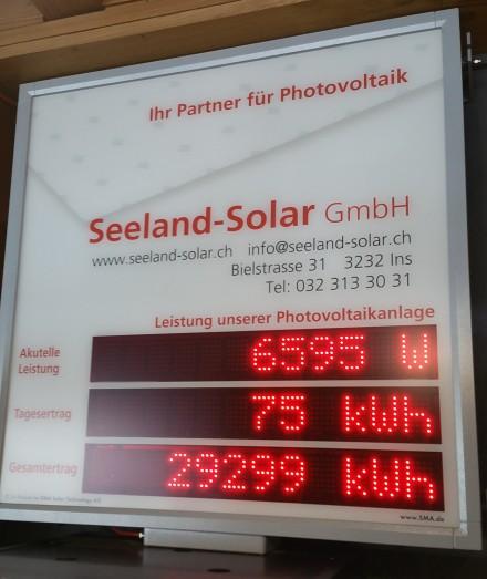 near 100% solar charge