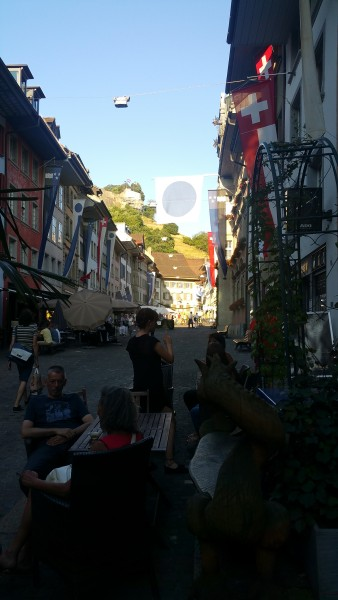 Lenzburg old town and castle