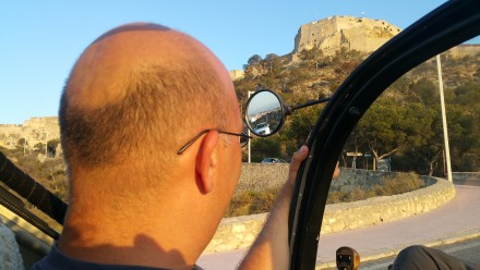 climbing up to Alicante castle