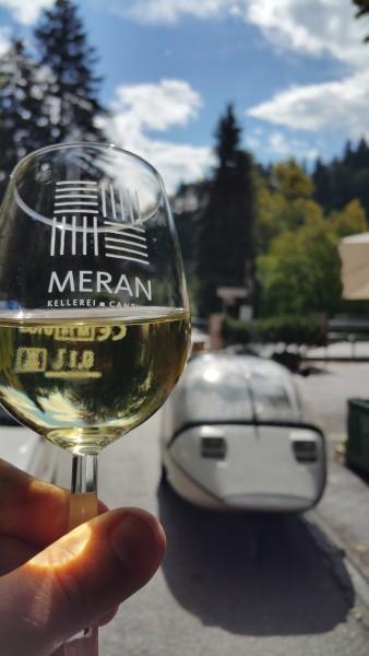 Three good things in life: Sun, wine & a TWIKE!