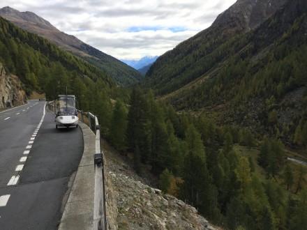 Climbing the Flüela Pass