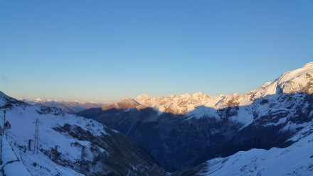 Southern Tyrol valley and Tyrolean Alps