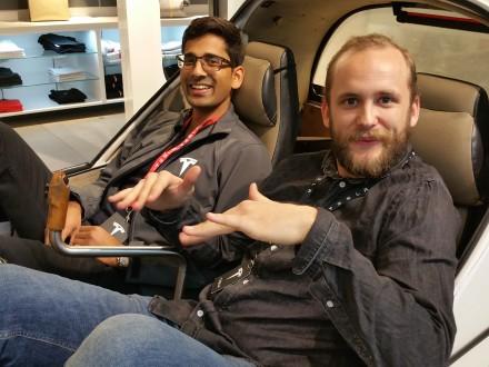 Even Tesla's Zurich staff has an (TWIKE-) EV-grin