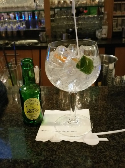 Ah. The Intercontinental knows how to serve a G&T!