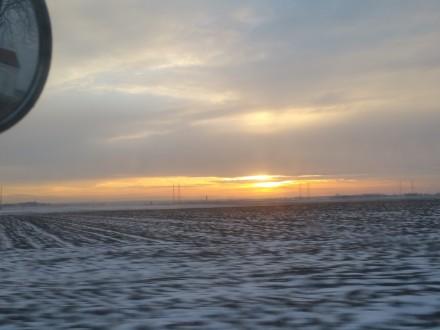Sunset over Niederösterreich