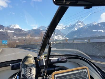 A beautiful day to cross Switzerland!