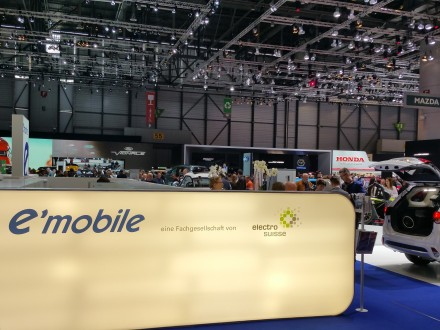 A small booth for sustainable mobility