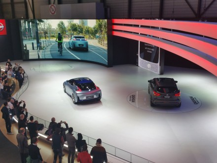 Nissan: 70% of booth dedicated to autonomous driving demo
