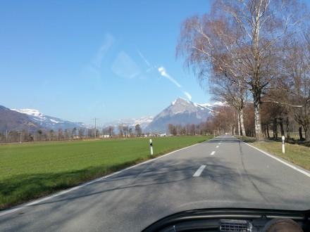 Driving towards Feldkirch