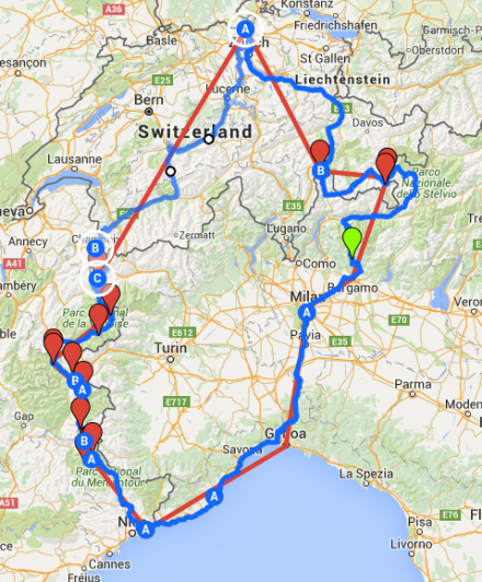 TDAF2016 Route