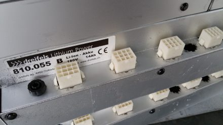 "Loaner Dreifels batteries ""only"" 14Ah instead of 17.5Ah"