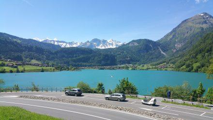 Fresh air, milky blue mountain water, summer green