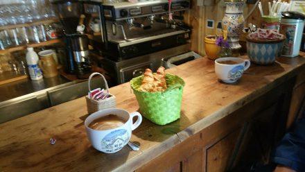 French breakfast - Café au Lait & buttery croissants