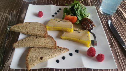French Food-porn. Foie Gras with chutney.
