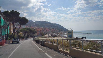Coastal road & village
