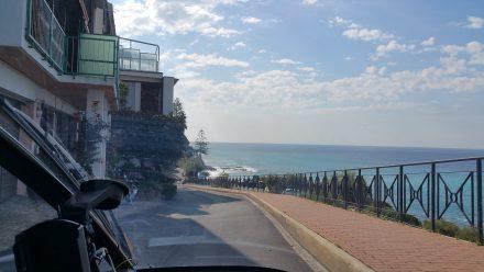 Single lane roads along the coast