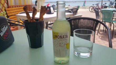 Sun, sea, lemonade and bread sticks..