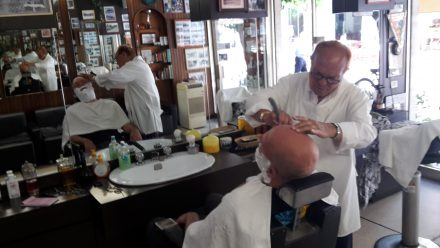 Old school and a dying profession. I love having a professional shave.