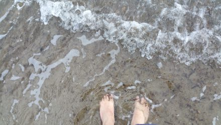 You can get wet feet in Italy, too.