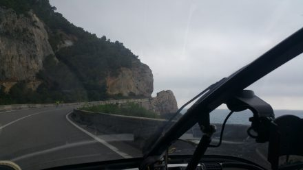Ligurian coastal road
