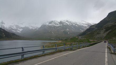 Lake Splügen, dry but grey