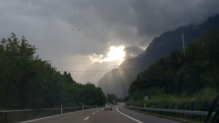 Dramatic weather around Walensee