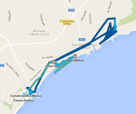 TDAF2016 - Day 6 GPS track