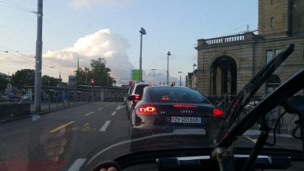 Aaargh! Zurich's morning traffic - NOT good for consumption!