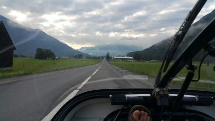 First glimpse of the Alps