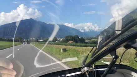 Chur's (impressive ;) ) skyline ahead
