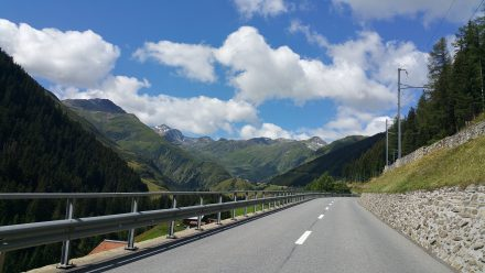 World famous Laax ski resort ahead