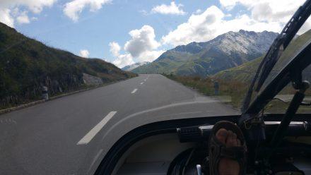 Climbing Oberalp pass