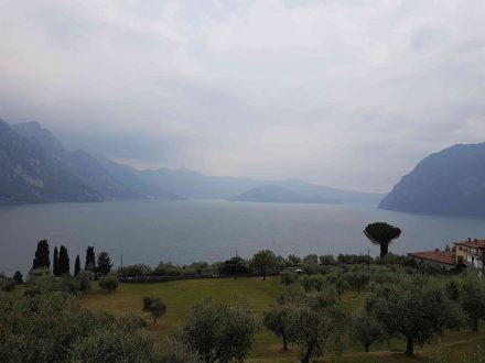 Lago d'Iseo with island