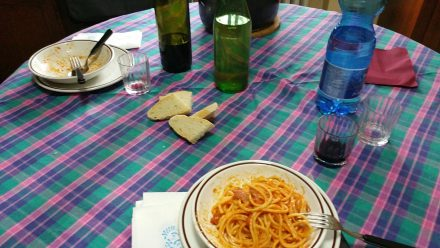 Simple Italian lunch & one of my favourites: Spaghetti all'Amatriciana