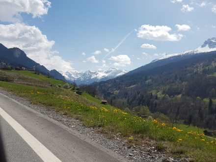 Climbing towards Klosters