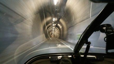 Very strange access tunnel leading to Livigno