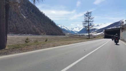 Arriving in Livigno valley