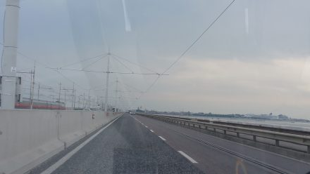 Crossing the causeway into Venice