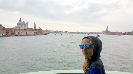 Being welcomed by Venice
