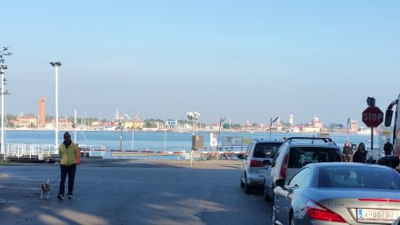 Waiting for the ferry...with a view!