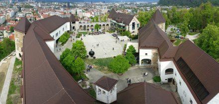 Ljubljana castle from above