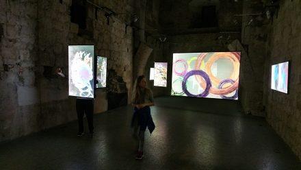 Visiting an art exhibition